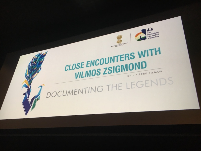 L'INTERVIEW sur CLOSE ENCOUNTERS WITH VILMOS ZSIGMOND à IFFI GOA